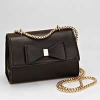 Black & Gold Bow Cross-body Handbag