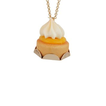 N2 by Les Néréides GOURMET COFFEE LEMON MERINGUE TART LONG NECKLACE