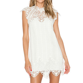 SAYLOR Rosetta Dress in Creme