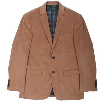 Corduroy Blazer in Brown by Country Club Prep