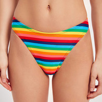 Op For UO Rainbow Hipster Bikini Bottom | Urban Outfitters