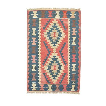 "Turkish Kilim Turkish 3' 7"" X 5' 6"" Handmade Rug"