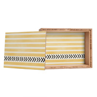 Allyson Johnson Yellow Stripes And Arrows Jewelry Box