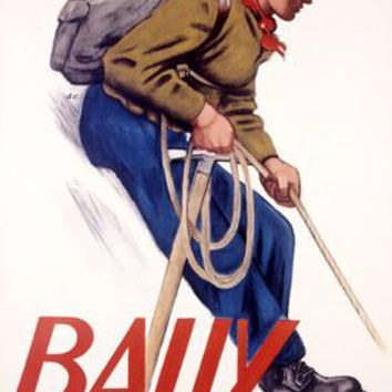 Bally Quality Mountaineer Boot Ad Fine Art Print