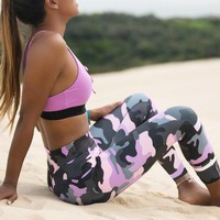 Women Leggings Workout Fitness Sexy Long Trousers Camouflage Leggings