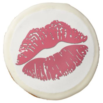 Kiss Mark Emoji Sugar Cookie