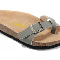 Birkenstock Piazza Sandals Suede Grey - Ready Stock