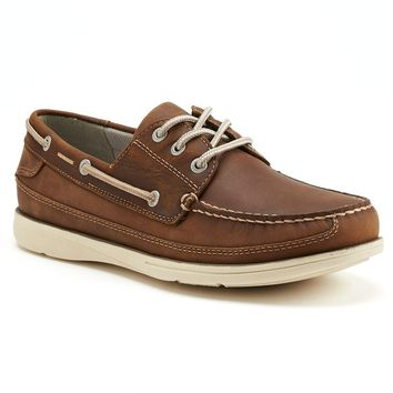 Chaps Windrow Men's Oxford Boat Shoes (Brown)