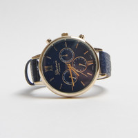Navy Thin Banded Watch - OS