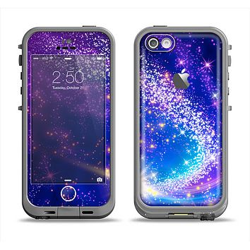 The Glowing Pink & Blue Comet Apple iPhone 5c LifeProof Fre Case Skin Set