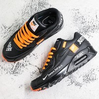 Nike Air Max 90 x Off-White Black Running Shoes - Best Deal Online