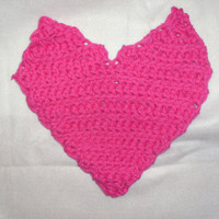 handmade crocheted valentine pot holder by CanadianCraftCritter
