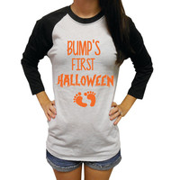 Bump's First Halloween Shirt. Pregnancy Halloween Shirt. Mommy to be Halloween Shirt. Baby Bump Halloween Shirt. Maternity Shirt.