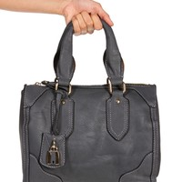 Gray Lock Satchel