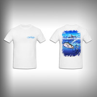 Unisex Short Sleeve Tshirt Custom Full Color Graphics - King Fishing