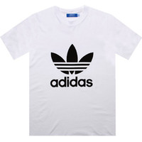Adidas Trefoil Tee (white / black) Apparel X41281 | PickYourShoes.com