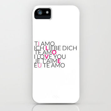 I Love U - 6 Languages - Pink iPhone Case by cooledition | Society6