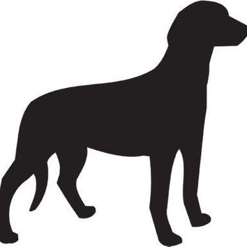 Serbian Tricolour Hound Silhouette Dog Puppy Breed Long Die Cut Vinyl Transfer Decal Sticker