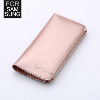 MDIGHY9 Soyan Wallet Practical Phone Pouch Case For Samsung Galaxy A5 A7 J5 J5008 J7 J7008 S5 S6 S7 S6Edge Note2 GrandMax G7200 G7106