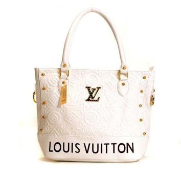 LMFONS Louis Vuitton LV Women Fashion Leather Tote Handbag Shoulder Bag