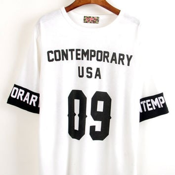 "White ""Contemporary USA 09"" Tee"
