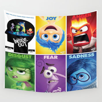 animation,disney,cartoon,inside out,movie & tv,3D Wall Tapestry by Rosita