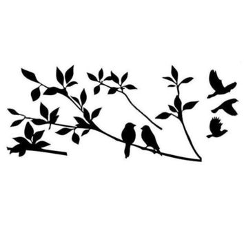 ICIKU7Q 2015 Home Decoration Diy Creative Tree Branch Black Bird Art  Vinyl Wall Decal Removable Planner  Vinyl Wall Stickers