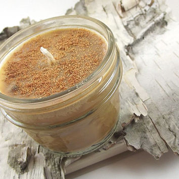 Soy Candle - Chocolate Walnut Espresso scented Soy Candle -- 4 ounce Mason Jar