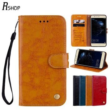 Wallet Leather Cover For HuaWei Ascend P8 P9 P10 G9 Lite Play 5 Y5 II Y5II 2 Honor 8 Smart Credit Card Slots Holder Flip Case