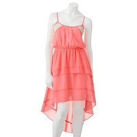 Candie's Tiered Hi-Low Neon Dress - Juniors
