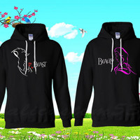 BEAUTY AND BEAST black hoodies