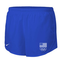 Women's Nike Royal Team USA Flag 5 Rings Mod Tempo Performance Shorts