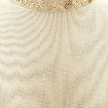 Ornate Disc Choker