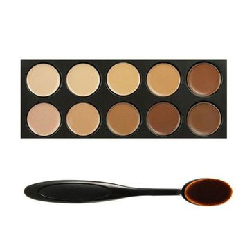 Face Concealer Foundation Palette & Makeup Brush
