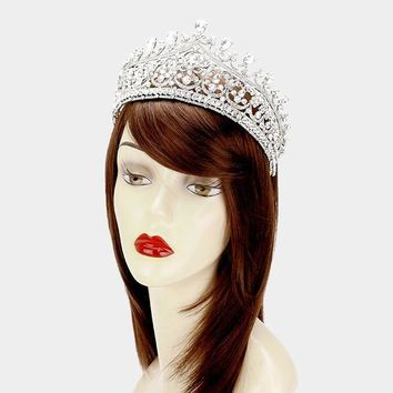 Rhinestone pageant tiara and wedding crown #W335895 - CLOSEOUT