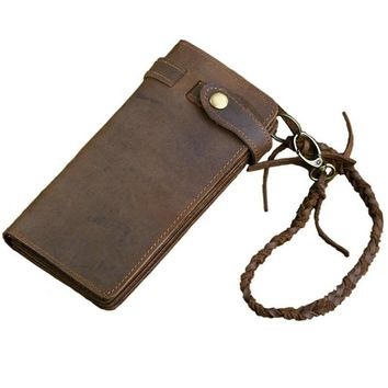 Leather Cowhide Vintage Style Wallet
