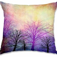 Decorative Woven Couch Throw Pillows from DiaNoche Designs by Sylvia Cook Unique Bedroom, Living Room and Bathroom Ideas - Trees