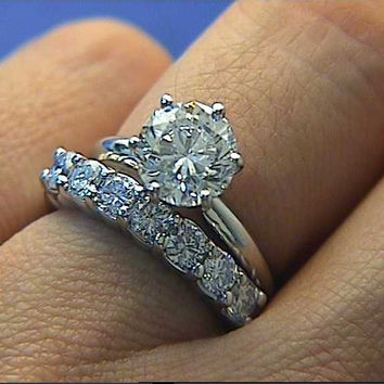 2.00ct GIA certified Round Diamond Engagement Ring G-SI1 18kt DIAMONDS SOLAR