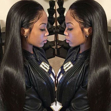Peruvian Virgin Hair Straight 4 Bundles Peruvian Straight Hair 7A Unprocessed Peruvian Straight Virgin Hair Human Hair Bundles