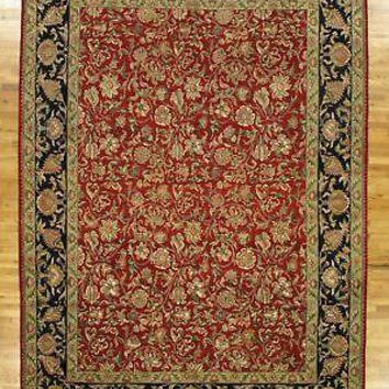 9' x 13' English Garden New Indian 9/9 Quality Red Jaipur Wool Handmade Rug