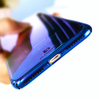 FLOVEME For iPhone 6 6S Plus Case Ultra Thin Gradient Blue-Ray Light Case For Apple iPhone 7 7 Plus Clear Accessories Cover Capa