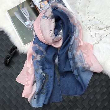 Hot sale pretty shadow lace scarves shawls Muslim hijab woman scarf/scarves pashmina bandana silk scarf Free Shipping