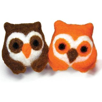 Feltworks Needle Felting Kit - Owls