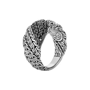 Classic Chain Twisted Lava Ring, Size 7 - John Hardy