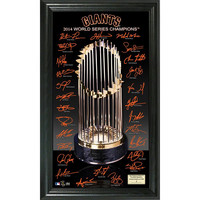 San Francisco Giants 2014 World Series Champions inTrophyin Signature Photo