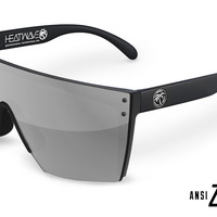 Lazer Face Sunglasses: Silver Z.87