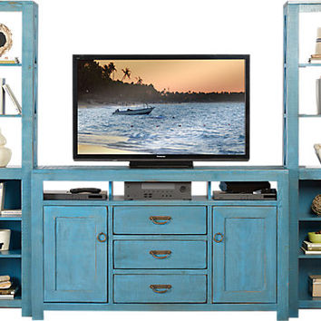 South Creek Blue 3 Pc Wall Unit