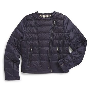 Girl's Burberry 'Mini Harlesdale' Quilted Down Jacket,