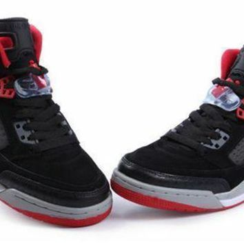 Hot Air Jordan 3.5 Spizike Suede Women Shoes Black Red