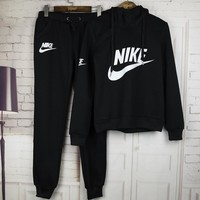 Nike Casual Print Hoodie Sweater Pants Trousers Set Two-Piece
